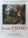 André Favory: Galerie Maine-Montparnasse, 1971