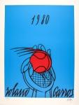 Valerio Adami: ROLAND GARROS (bleu), 1980