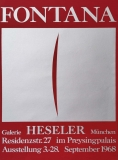 Lucio Fontana: Galerie Heseler, 1968